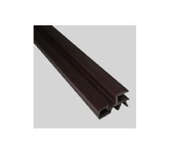 Profil charnière 4mm marron foncé